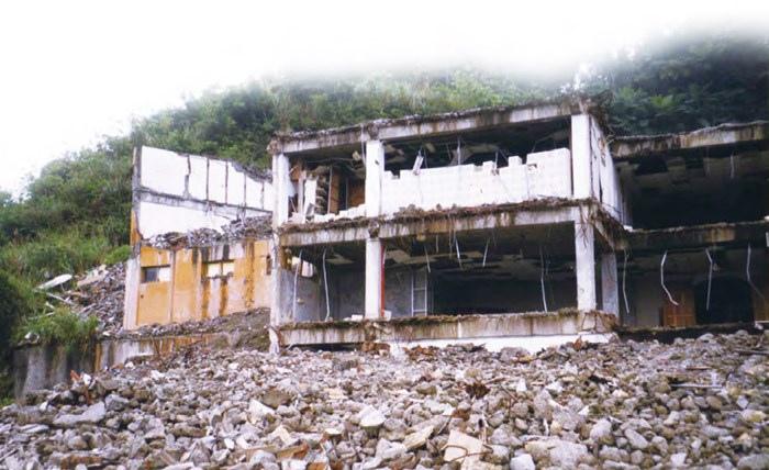 汐止明安寺(天佛大道院)被夷為平地的淒涼景象