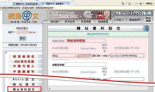 網路中文轉址設定