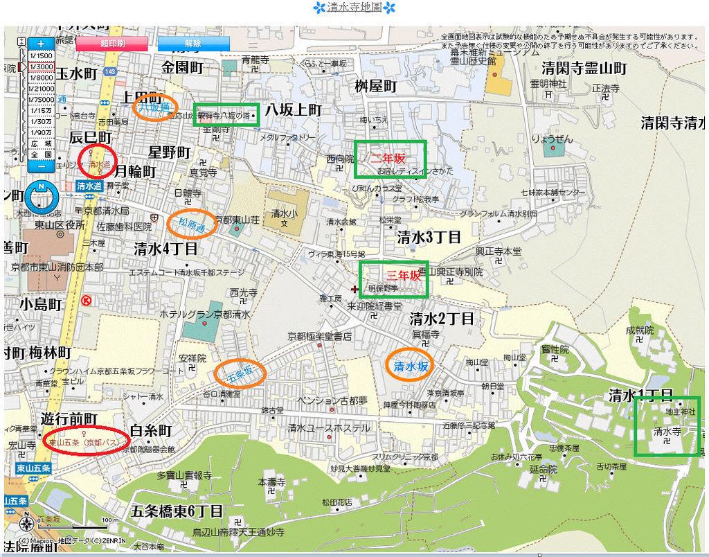 清水寺地圖1