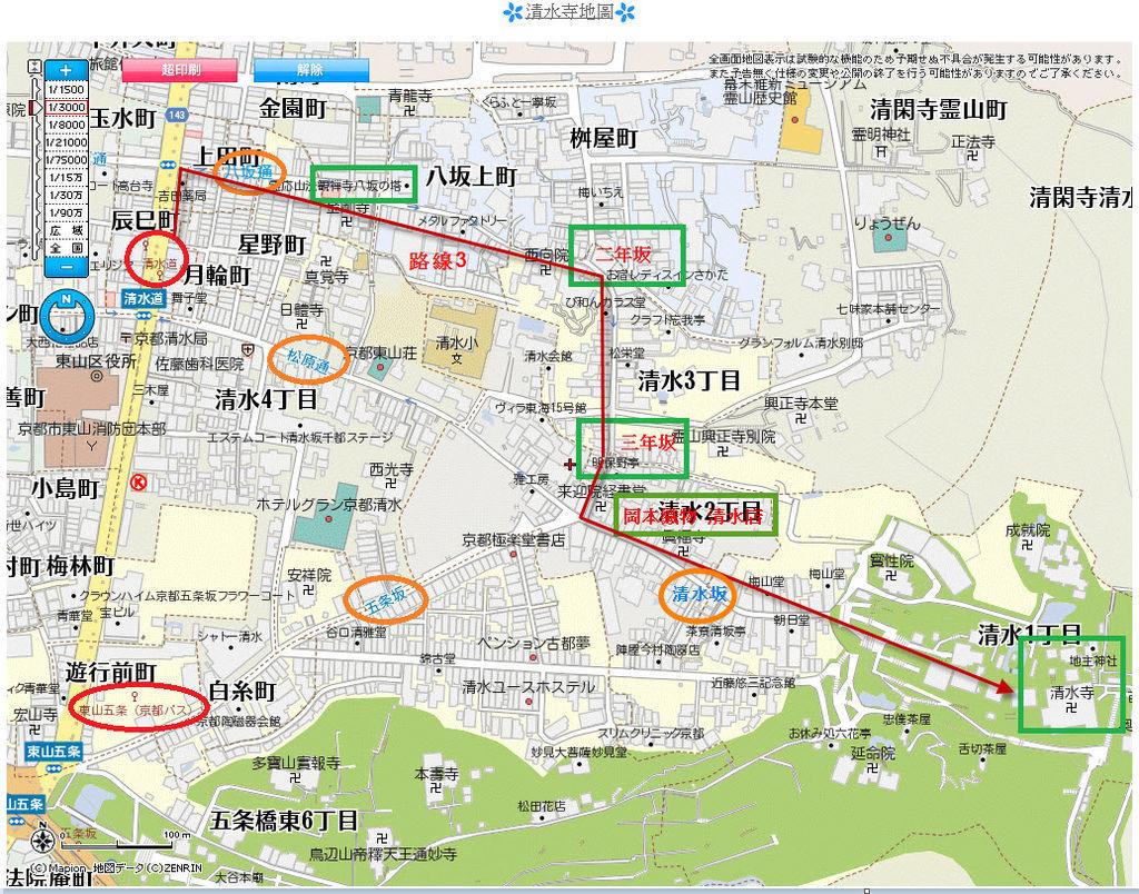 清水寺地圖4