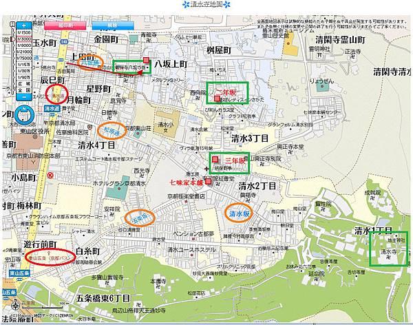 八坂塔地圖
