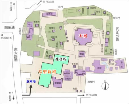 八坂神社地圖