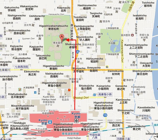 東本願寺地圖