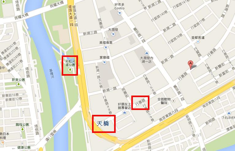 彩虹河濱公園地圖
