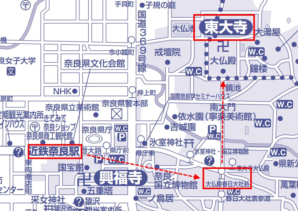 東大寺地圖