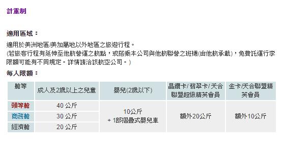 華航行李限制2