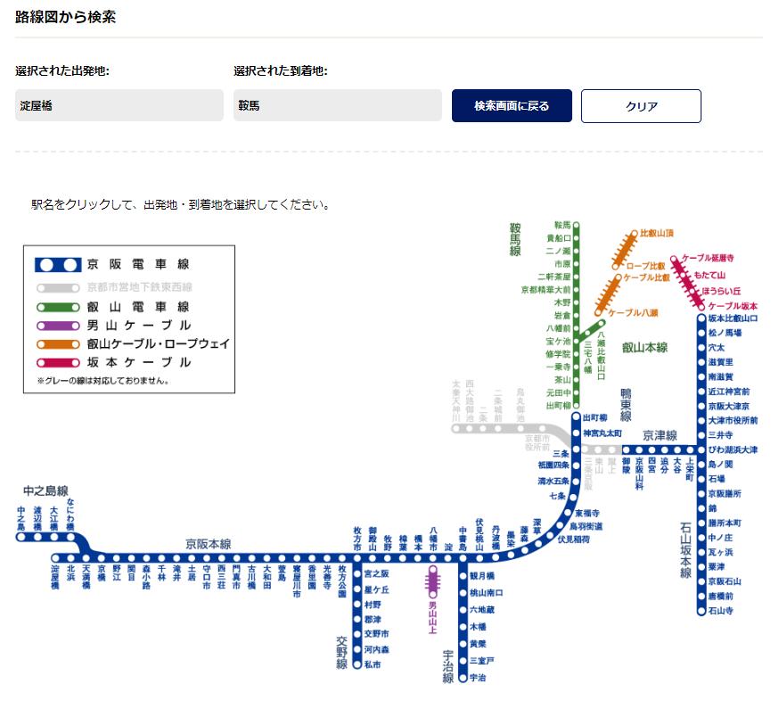 京阪電車查詢時刻表、票價、車程...