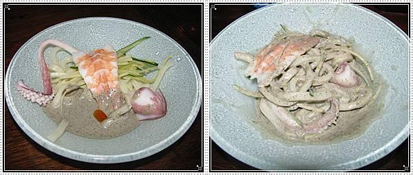 海鮮胡麻涼麵