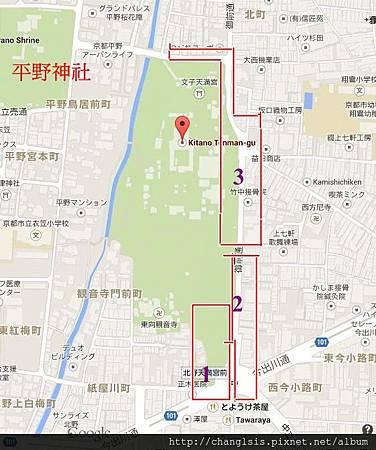 北野天滿宮市集分布圖