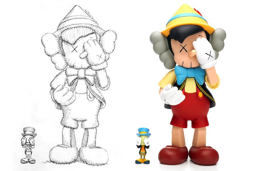小木偶KAWS Pinocchio & Jiminy Cricket (1).jpg