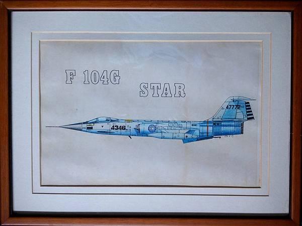 手繪F 104G 戰機