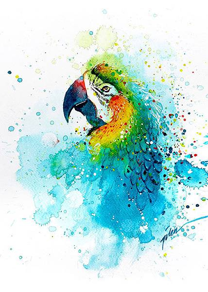 colorful-animal-watercolor-paintings-tilen-ti-12