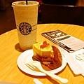 新北投星巴克,芒果優格蛋糕+美式咖啡