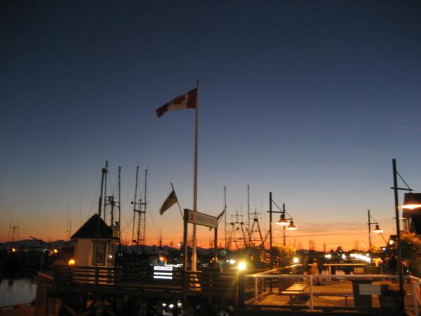 黃昏時候的stvenson碼頭