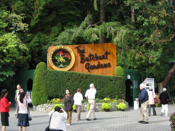 Butchart Garden的入口