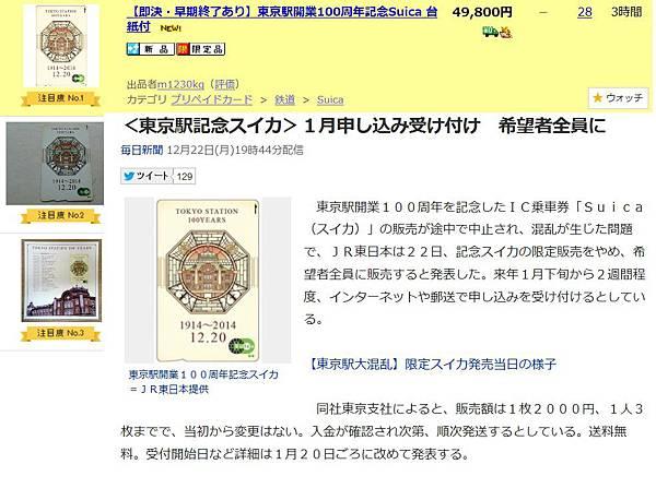 東京車站100週年限定SUICA變成不限定可能氣死一堆黃牛