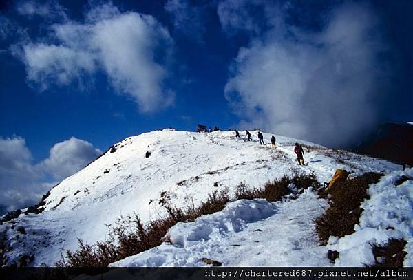 雪山東峰雪景