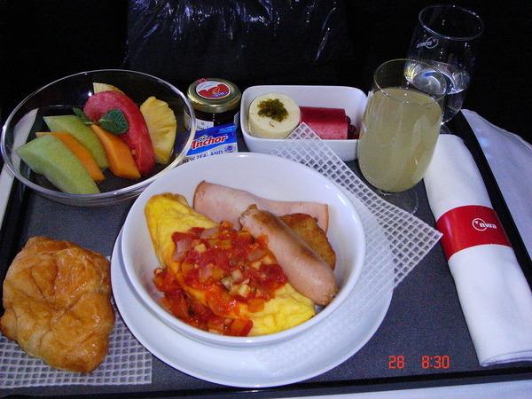 第一天的飛機餐