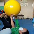 2014/10/23 走平衡 雙腳跳 夾球