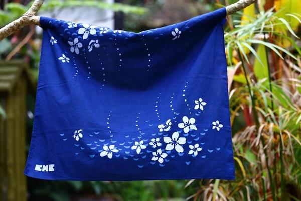 卓也小屋手作藍染方巾7