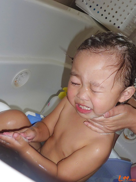 寶寶洗臉.JPG
