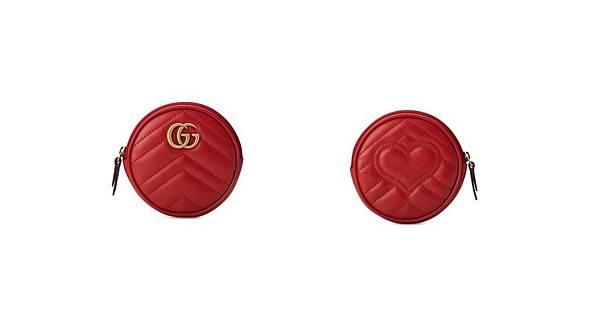 GUCCI Marmont 紅色零錢包 情人節禮物.jpg
