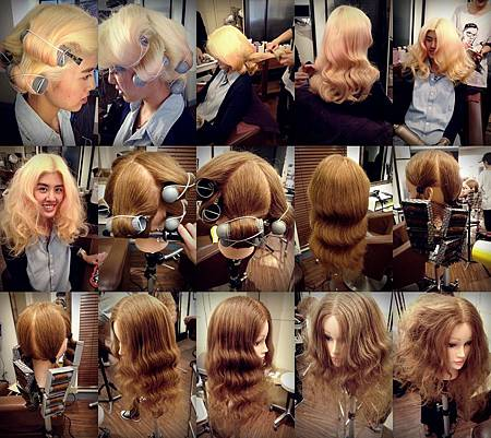 Rainbow Hair 設計師外景造型訓練~~漂亮造型,廣告造型