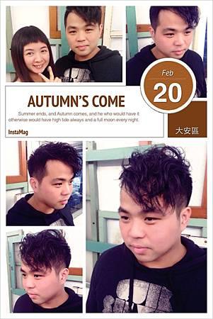 台北東區推薦髮型Rinbow Hair 設計師Cheetah作品----男生推薦髮型,東區男生剪髮,男生燙捲大改造,冷塑燙,男生燙髮,兩側邊推短。