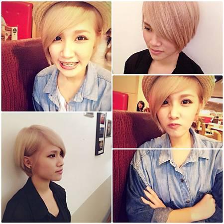 台北東區剪髮推薦Rainbow Hair 設計師Cheetah作品(東區流行時尚剪髮燙髮染髮護髮),女生中長髮,超淺粉紅米黃,設計染,長瀏海,個性髮型~~
