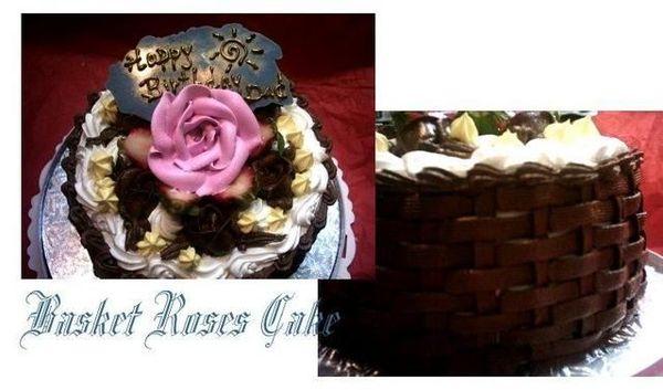 Basket roses cake