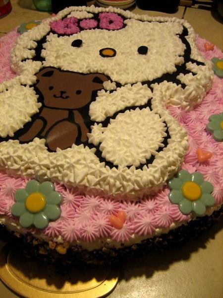 傅先生十四吋半立體kitty蛋糕