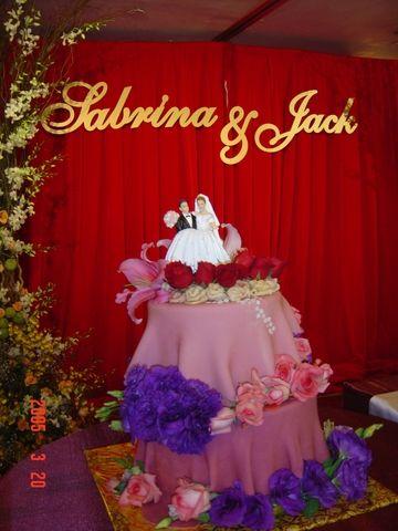 Sabrina's wedding cake:D