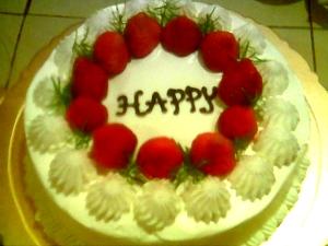 快樂的草莓蛋糕happy strawberry cake