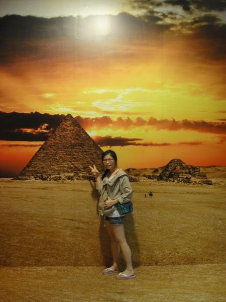 我在埃及 天氣晴...