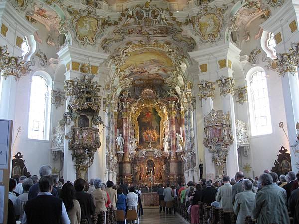 Wieskirche教堂-內部金璧輝煌2.jpg