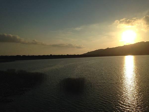 阿公店水庫下午黃昏