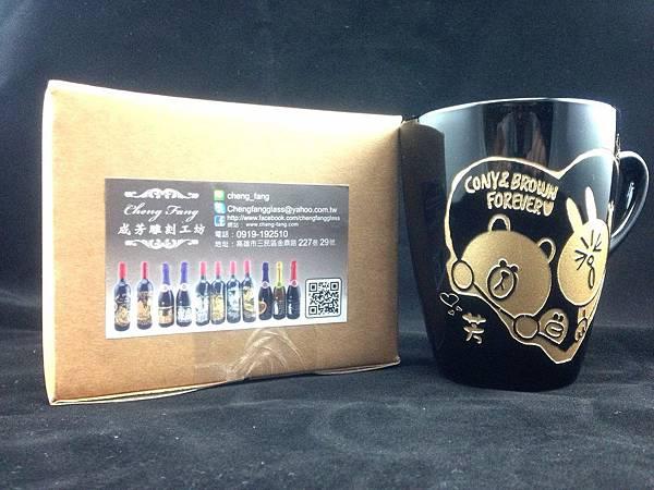 客製化圖騰馬克杯杯系列 可依照客戶提供之圖騰及祝福語雕刻唷~