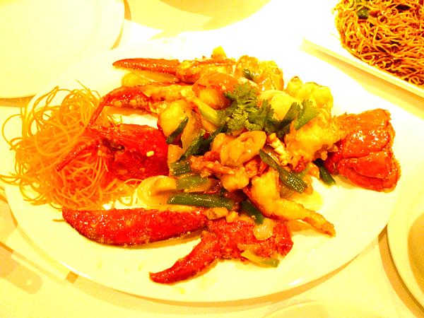 成寒-倫敦華埠 Chinatown 蔥薑焗龍蝦