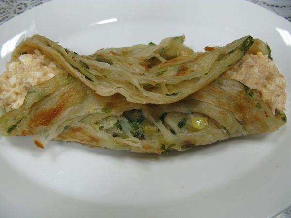 鮪魚沙拉抓餅
