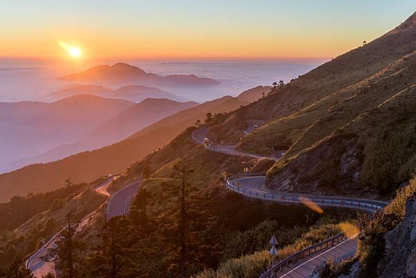 合歡山夕陽
