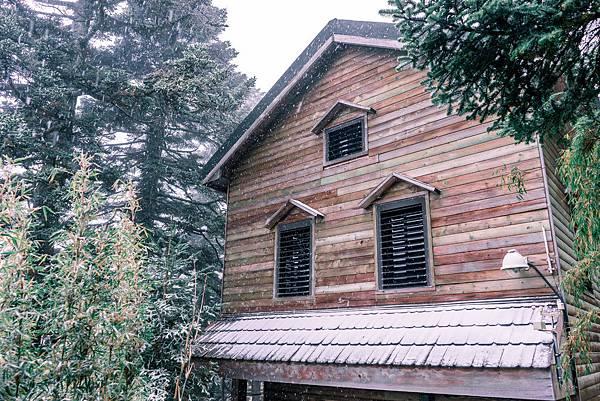 雪中木屋,聖誕氛圍