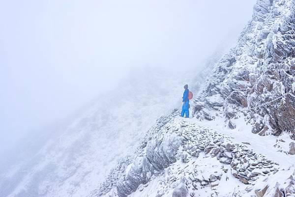 冬季登玉山雪景