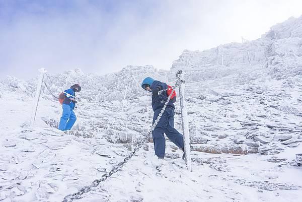 登玉山主峰的最後一哩路