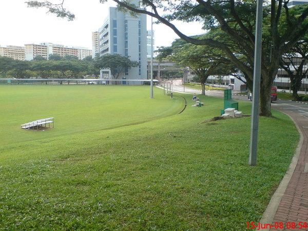 足球場一隅