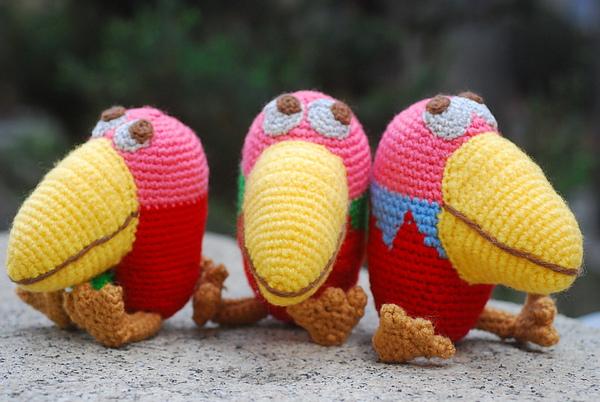 三隻大嘴鳥