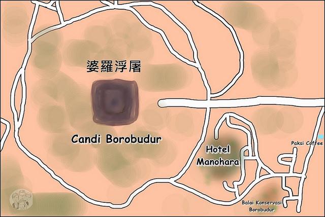婆羅浮屠地圖