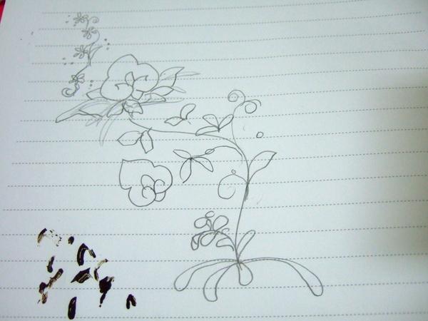 """Henna試畫 004-這是一開始的構圖,差真多差真多!! >""""<"""