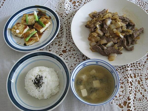 叉燒豆腐+洋蔥牛肉