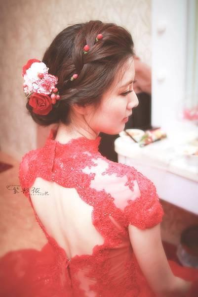 嘉義新娘秘書紫杉依0988-351079-如妍訂婚造型