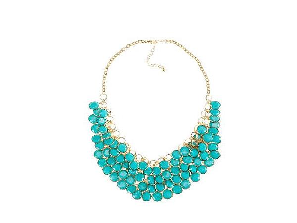 H&M華麗時尚耀眼松綠色項鍊(全新未使用 售400元 )